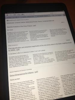"""Eher """"magazinig"""" ist die Aurfbereitung von arXiv.org"""